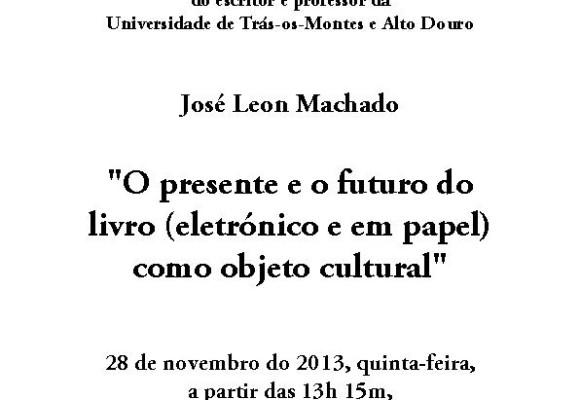 Conferência de José Leon Machado_cartaz